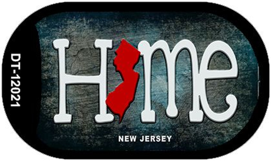 New Jersey Home State Outline Novelty Dog Tag Necklace DT-12021