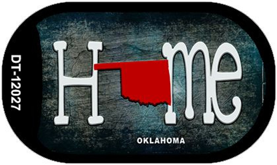 Oklahoma Home State Outline Novelty Dog Tag Necklace DT-12027
