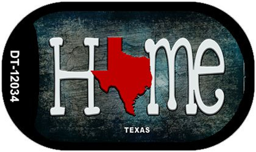 Texas Home State Outline Novelty Dog Tag Necklace DT-12034