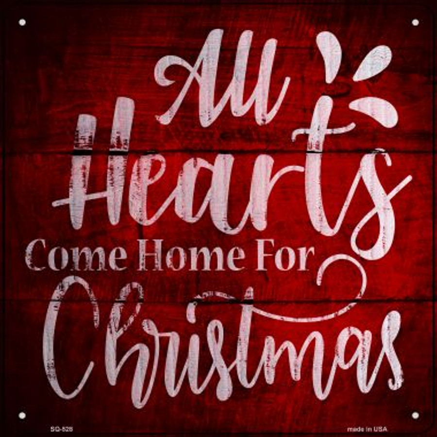 Come Home For Christmas.Come Home For Christmas Novelty Metal Square Sign Sq 528
