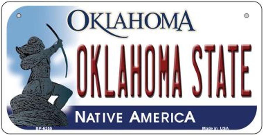Oklahoma State Novelty Metal Bicycle Plate BP-6255