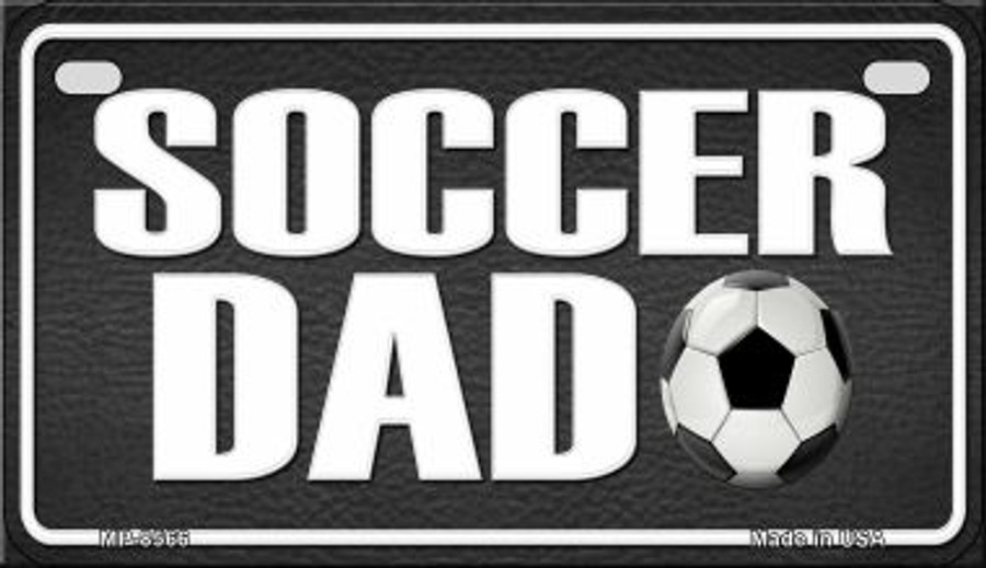 Soccer Dad Novelty Metal Motorcycle Plate MP-8566