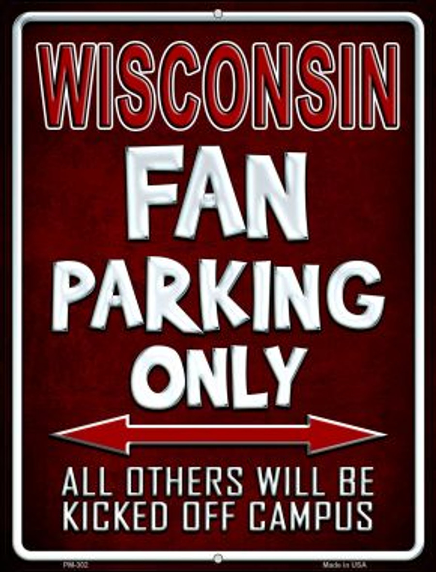 Wisconsin Novelty Mini Metal Parking Sign PM-302