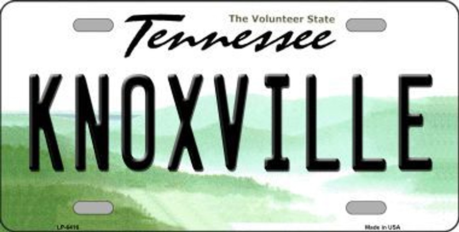 Knoxville Tennessee Aluminum Novelty Car License Plate