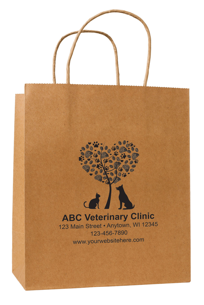 HSD18 - Personalized Handled Paper Bag (Multiple Imprint Colors Available)