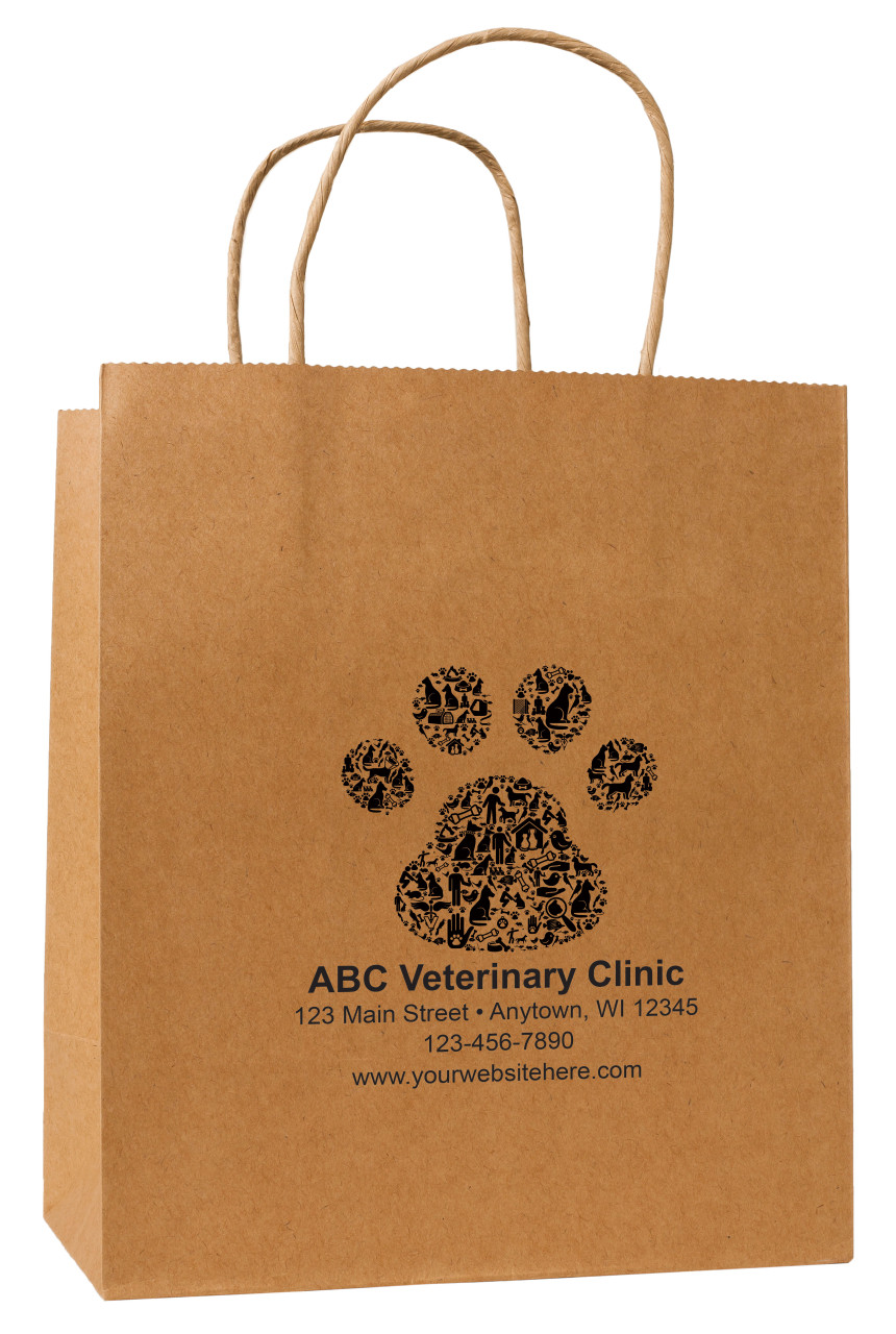 HSD20 - Personalized Handled Paper Bag (Multiple Imprint Colors Available)