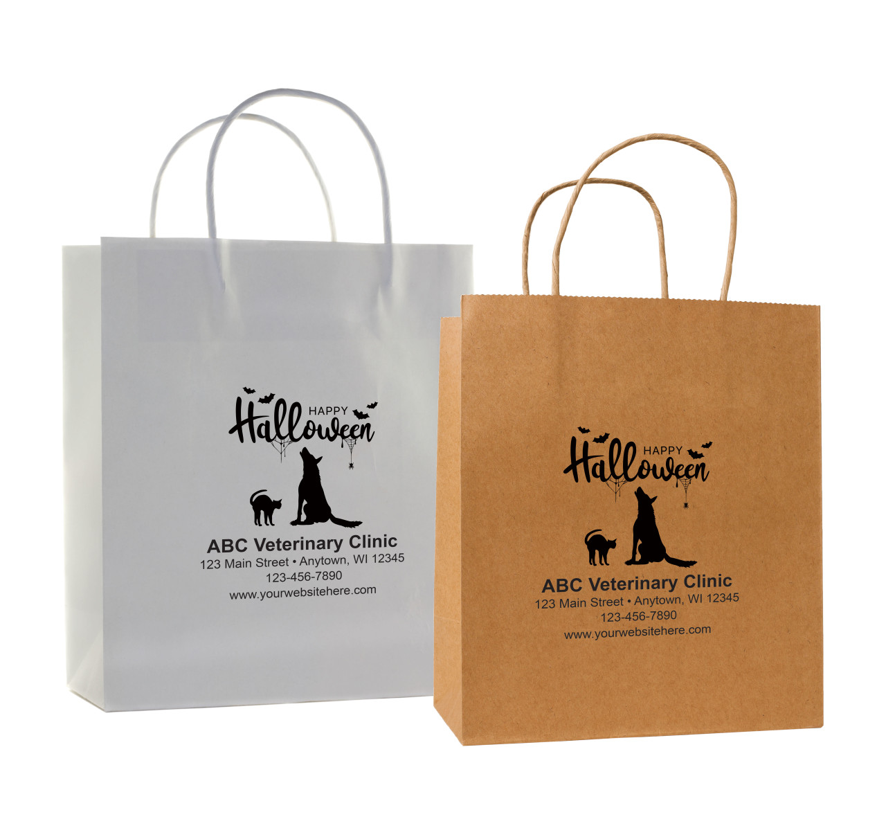 HSD22 - Personalized Handled Paper Bag (Multiple Imprint Colors Available)
