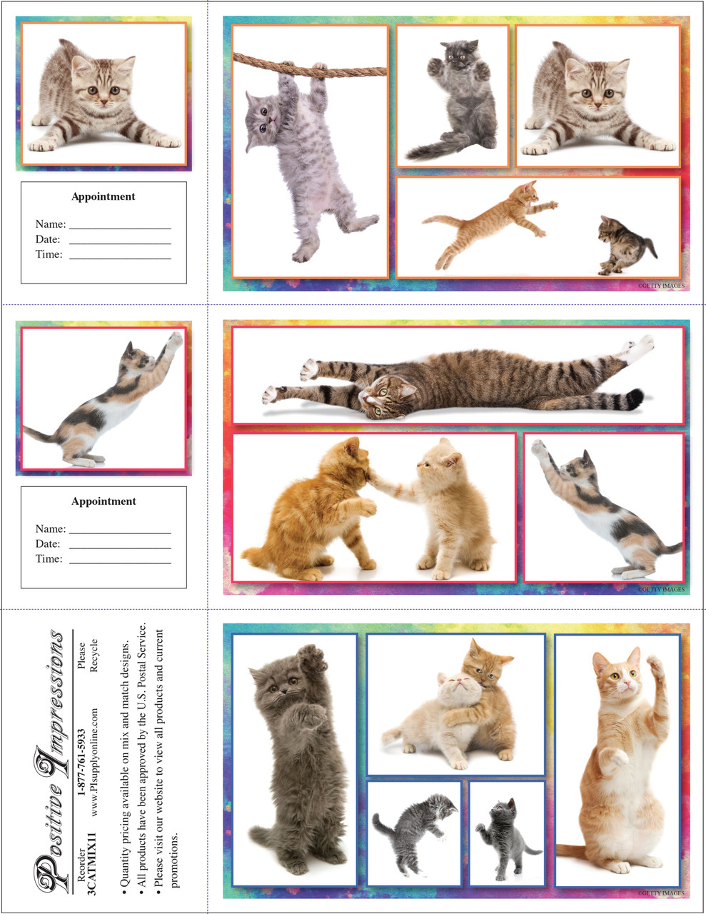 3CATMIX11 - 3 Up Reminder Cards