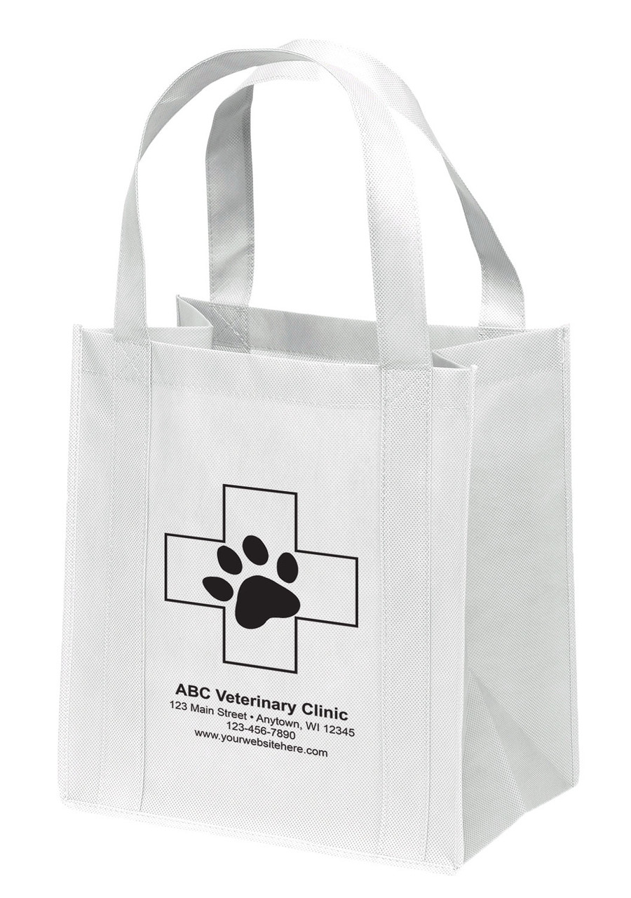 NWS2 - Personalized Non-Woven Tote Bag - 12W x 8 x 13H (Multiple Bag & Imprint Colors Available)