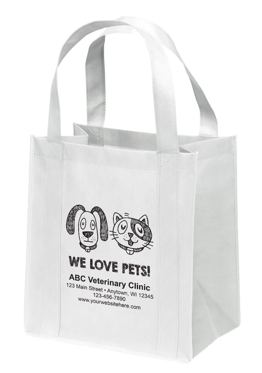 NWS5 - Personalized Non-Woven Tote Bag - 12W x 8 x 13H