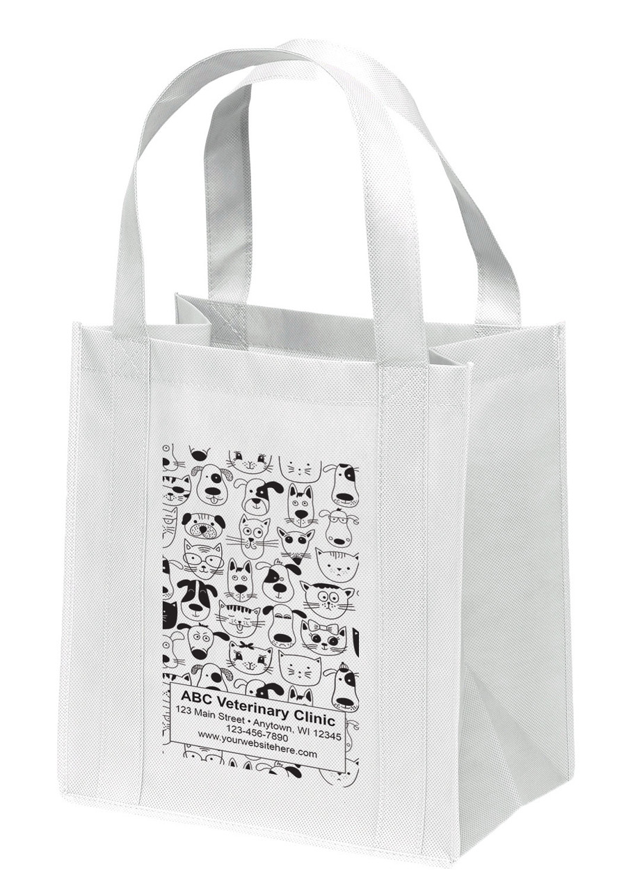 NWS14 - Personalized Non-Woven Tote Bag - 12W x 8 x 13H