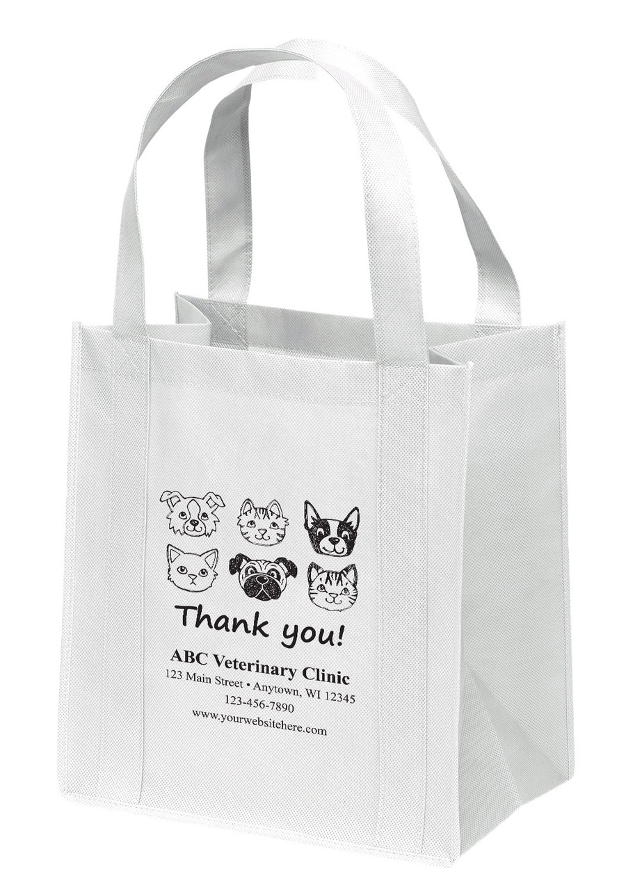 NWS15 - Personalized Non-Woven Tote Bag - 12W x 8 x 13H (Multiple Bag & Imprint Colors Available)