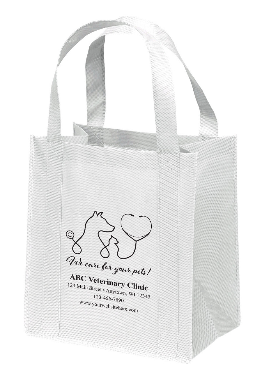 NWS17 - Personalized Non-Woven Tote Bag - 12W x 8 x 13H