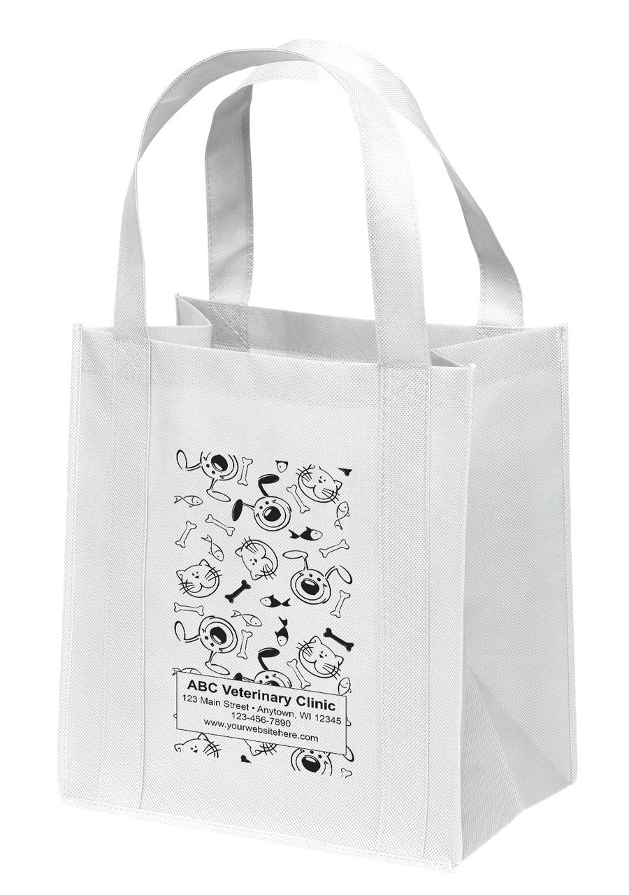 NWL7 - Personalized Non-Woven Tote Bag - 13W x 10 x 15H
