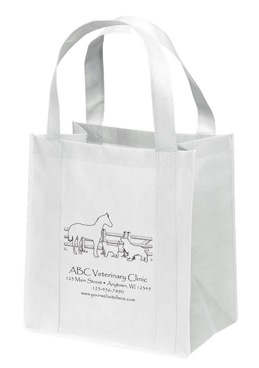 NWL10 - Personalized Non-Woven Tote Bag - 13W x 10 x 15H