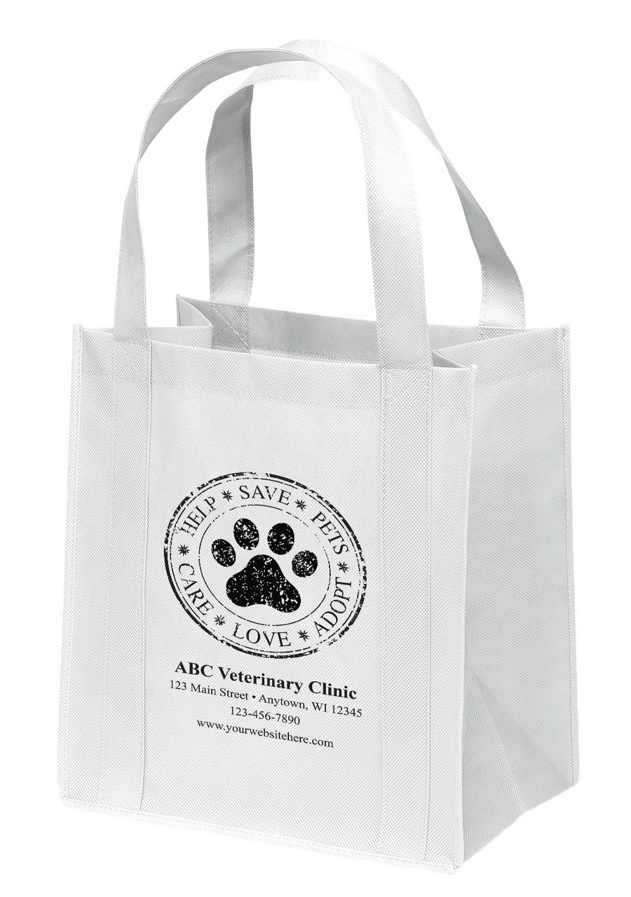 NWB12 - Personalized Non-Woven Tote Bag - 13W x 10 x 15H