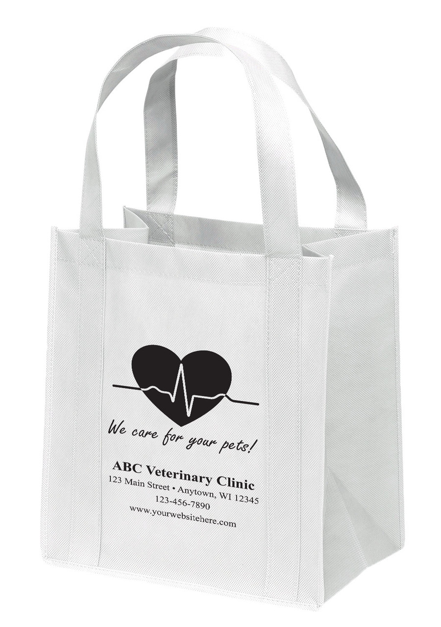NWL13 - Personalized Non-Woven Tote Bag - 13W x 10 x 15H