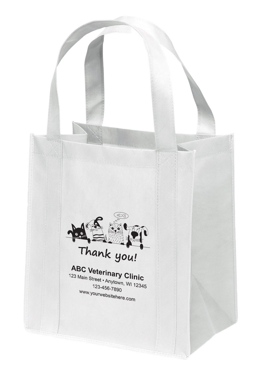 NWB16 - Personalized Non-Woven Tote Bag - 13W x 10 x 15H