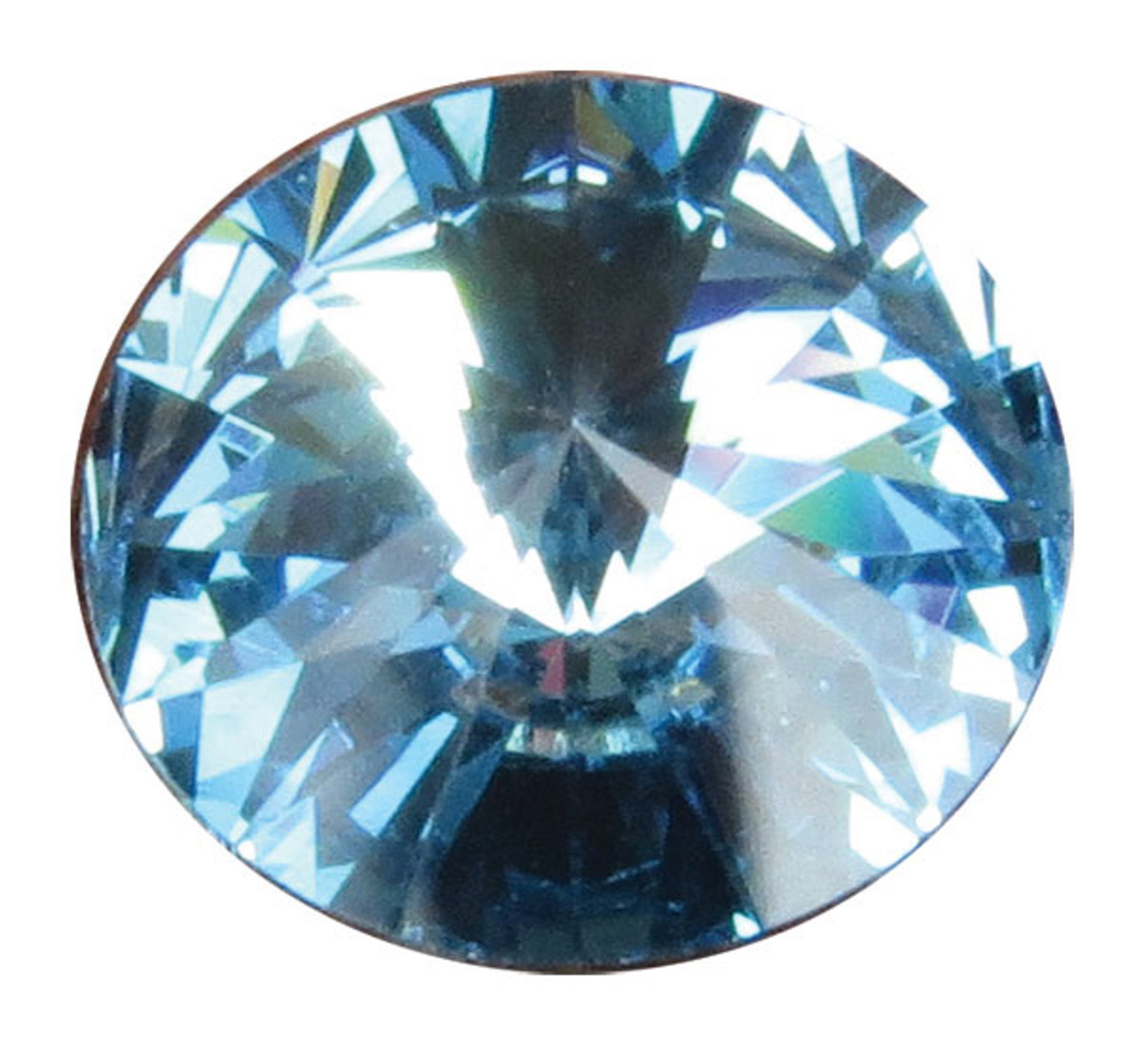 SCMAR - Swarovski Crystal Gemstones Aquamarine (March) 6 stones/pack. For ClayPaws® Prints (SCMAR)