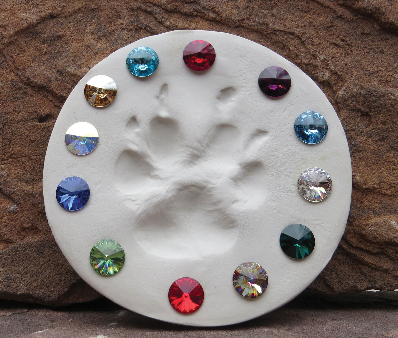 SCMAR - Swarovski Crystal Gemstones Aquamarine (March) 6 stones/pack.  For ClayPaws® Prints