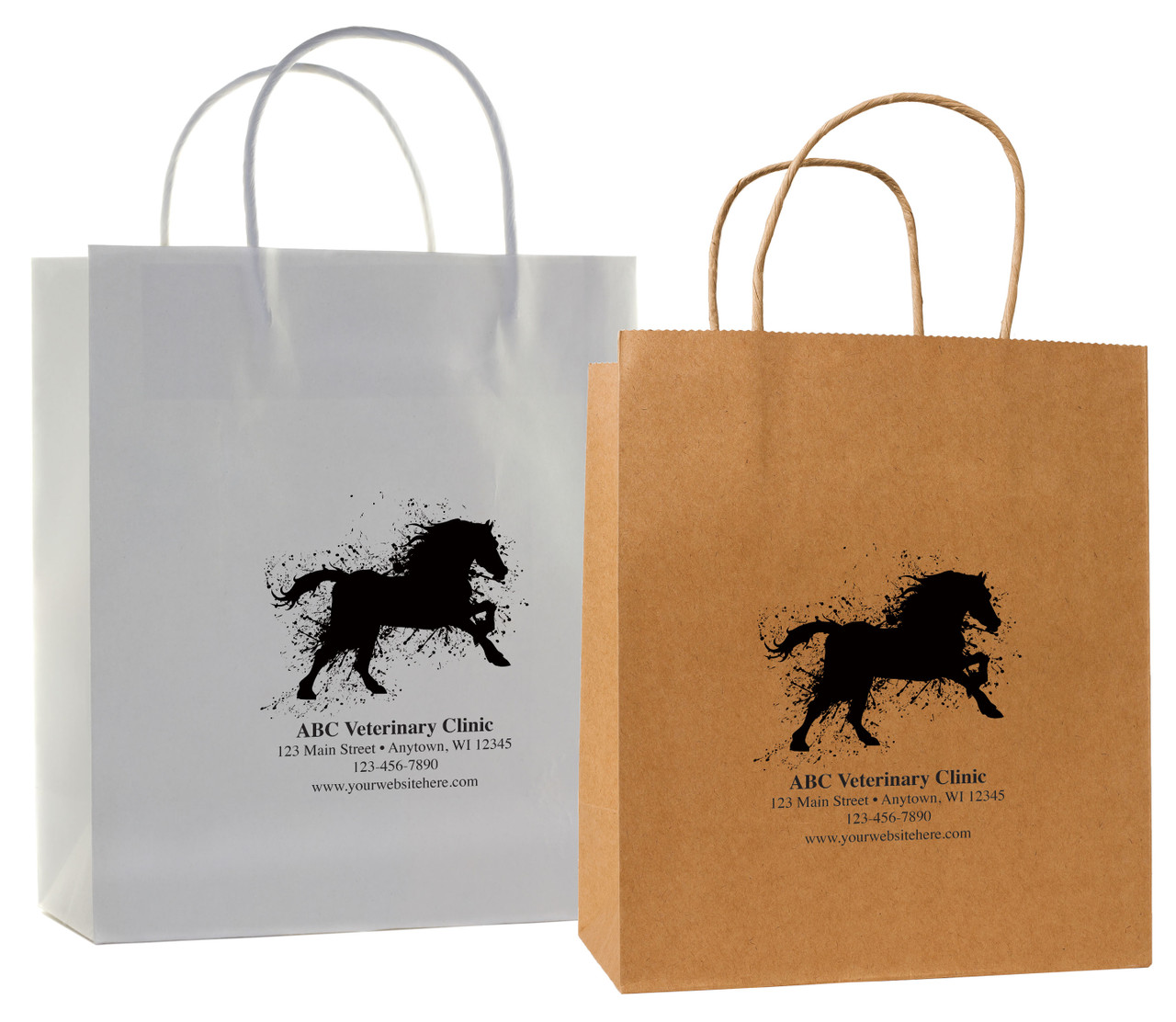 HSD32 - Personalized Handled Paper Bag (Multiple Imprint Colors Available)
