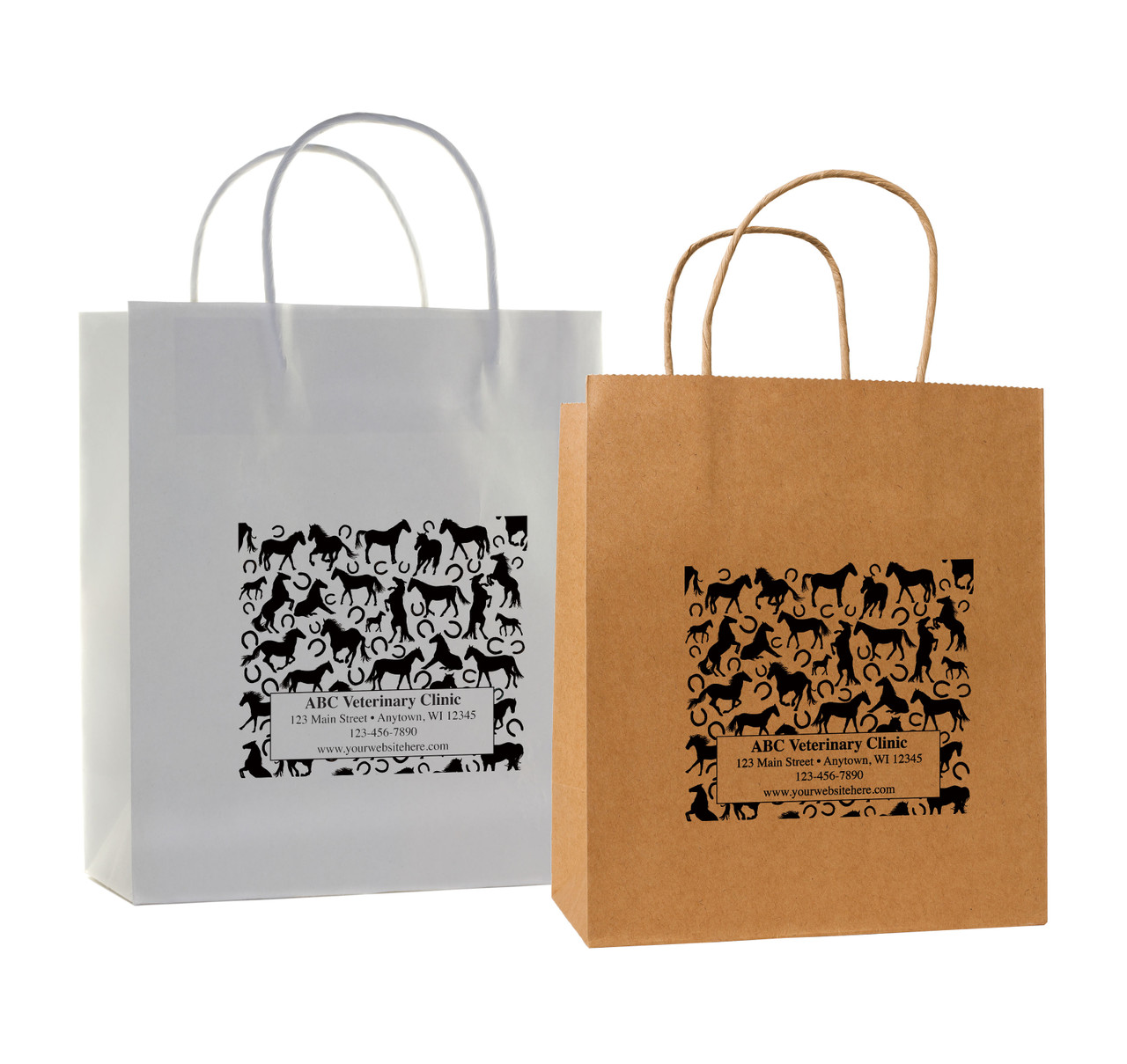 HSD33 - Personalized Handled Paper Bag (Multiple Imprint Colors Available)