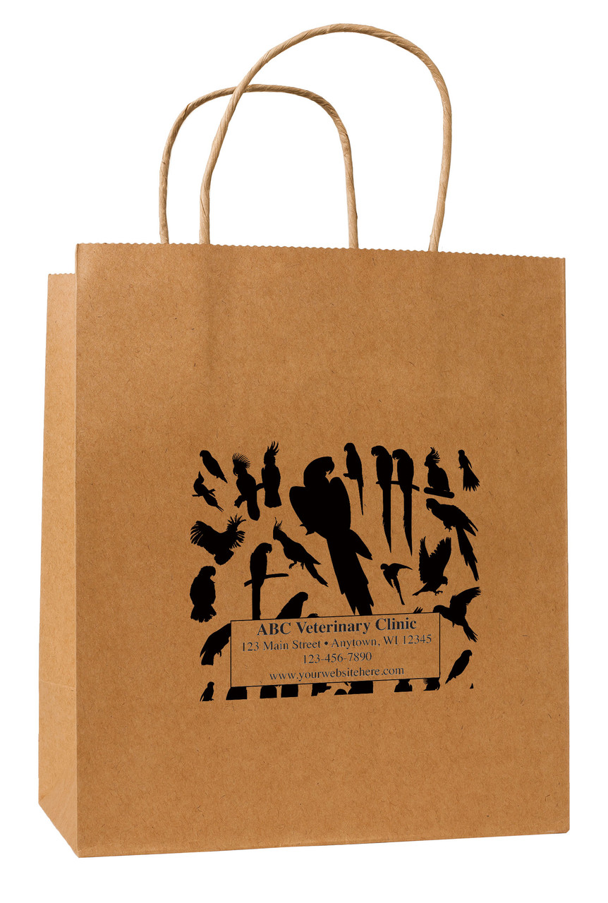 HSD34 - Personalized Handled Paper Bag (Multiple Imprint Colors Available)