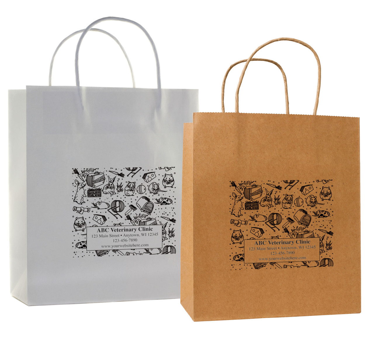 HSD36 - Personalized Handled Paper Bag (Multiple Imprint Colors Available)