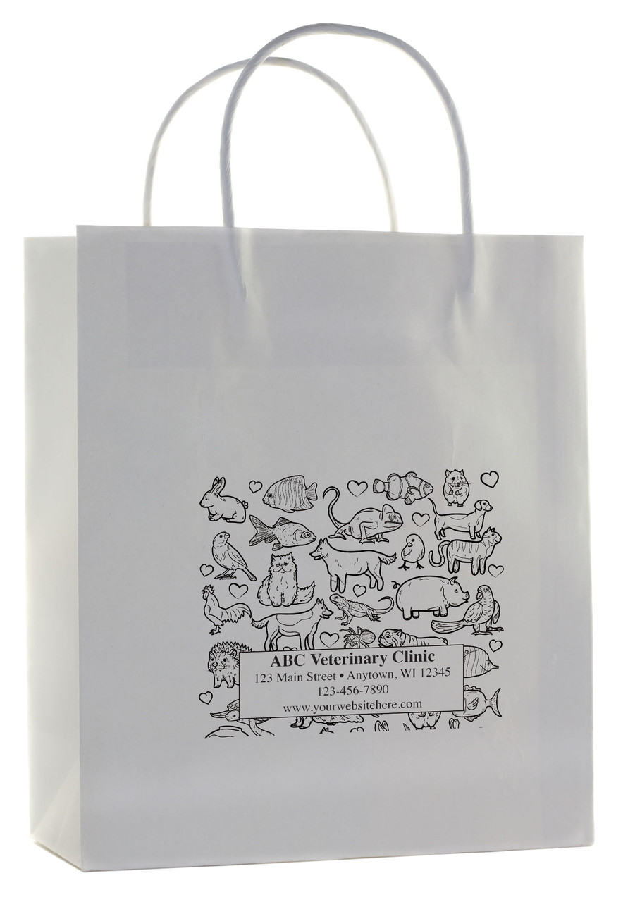 HSD39 - Personalized Handled Paper Bag (Multiple Imprint Colors Available)