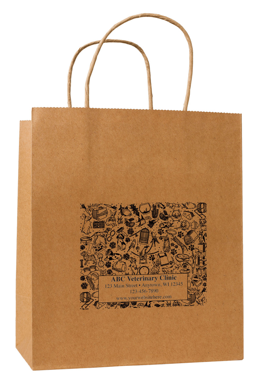 HSD40 - Personalized Handled Paper Bag (Multiple Imprint Colors Available)