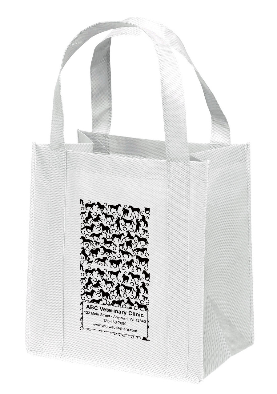 NWS33 - Personalized Non-Woven Tote Bag - 12W x 8 x 13H