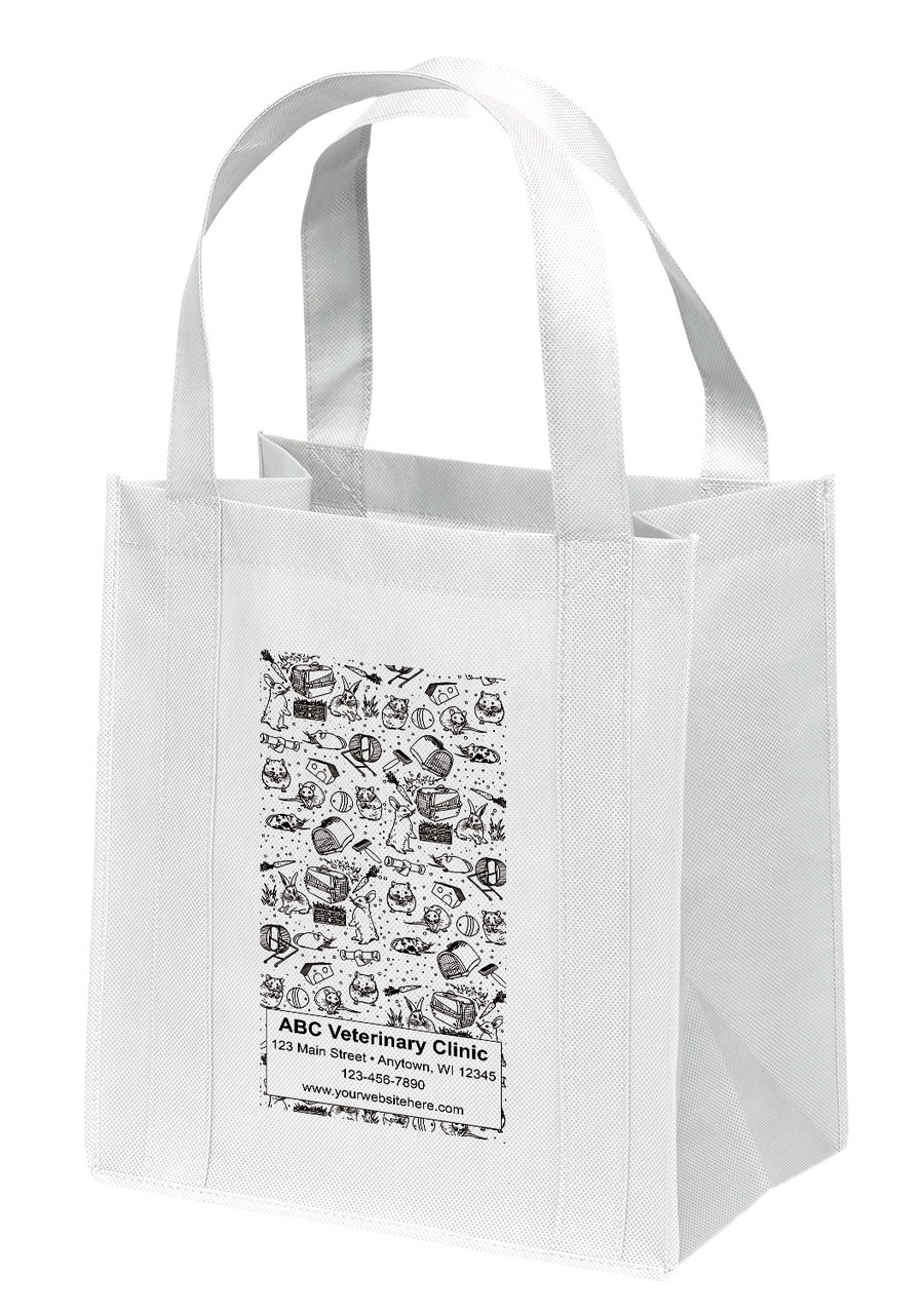 NWS36 - Personalized Non-Woven Tote Bag - 12W x 8 x 13H