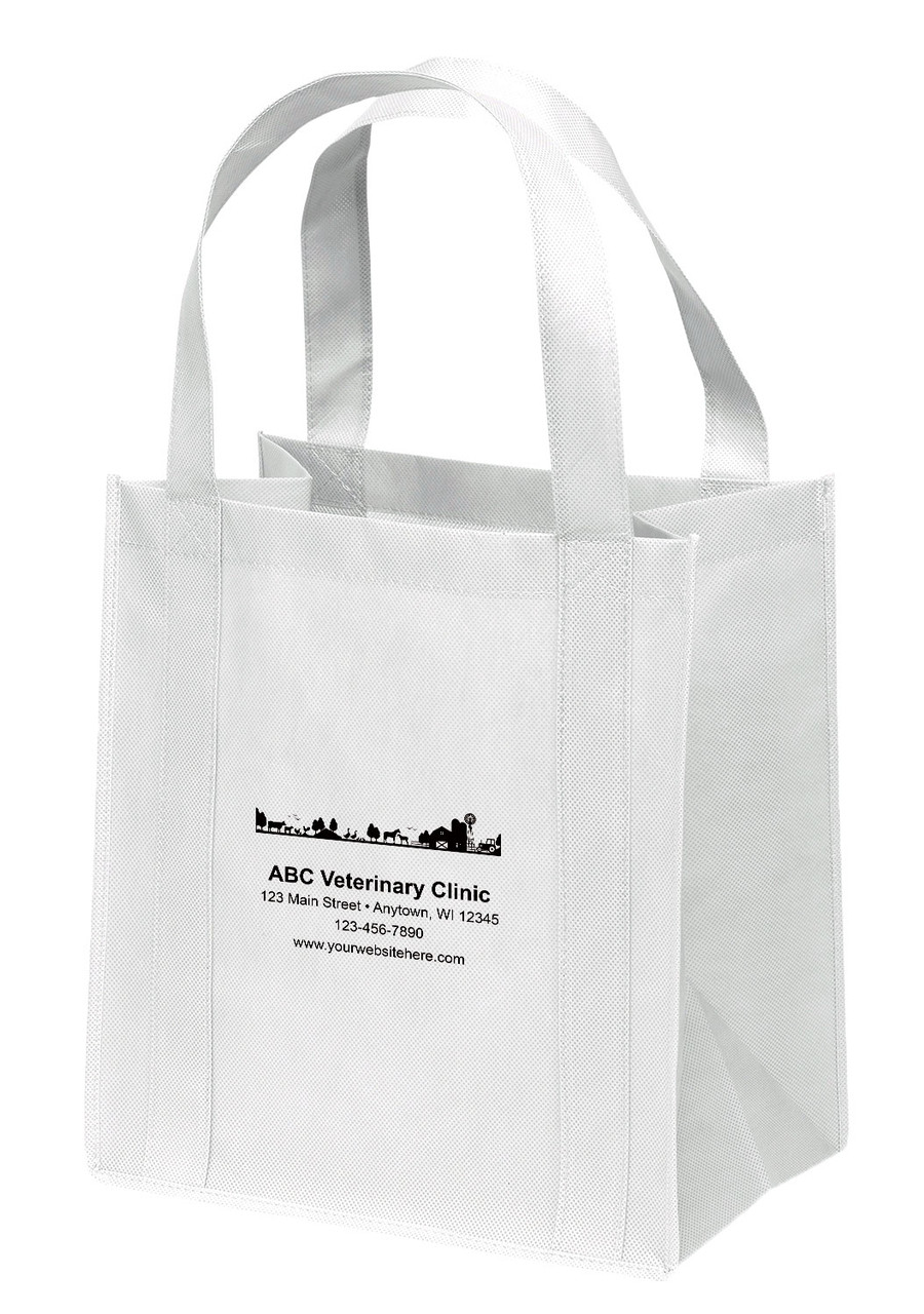 NWS38 - Personalized Non-Woven Tote Bag - 12W x 8 x 13H