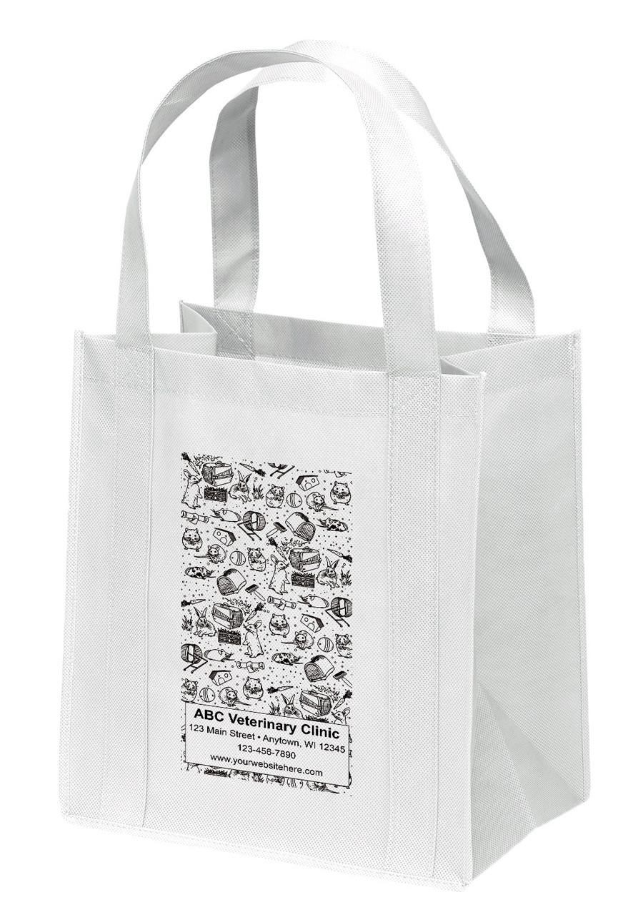 NWL36 - Personalized Non-Woven Tote Bag - 13W x 10 x 15H
