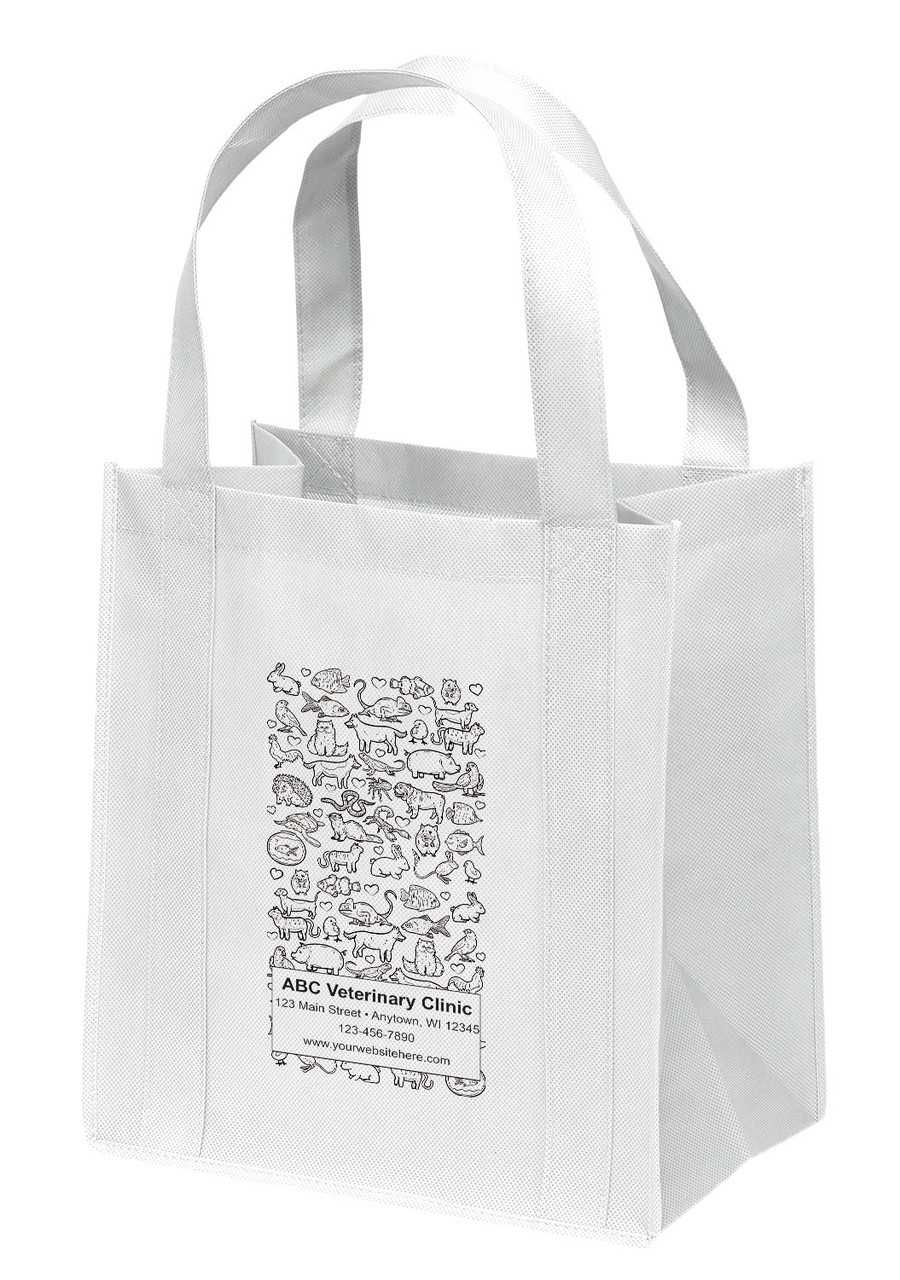 NWL39 - Personalized Non-Woven Tote Bag - 13W x 10 x 15H