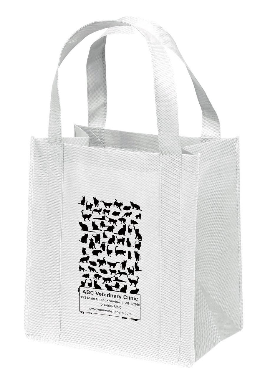 NWL42 - Personalized Non-Woven Tote Bag - 13W x 10 x 15H