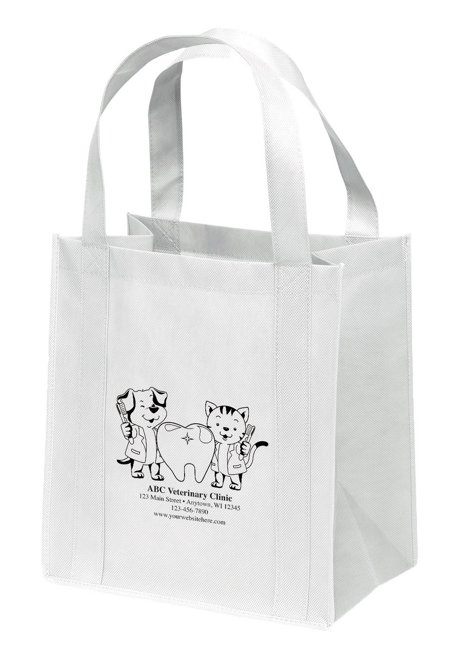 NWS43 - Personalized Non-Woven Tote Bag - 12W x 8 x 13H