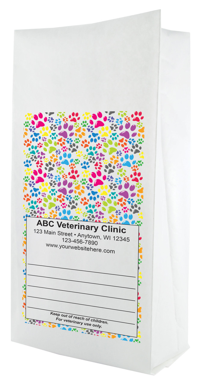 FCPFS8 - Full Color Personalized Small Flat Bottom Paper Bag