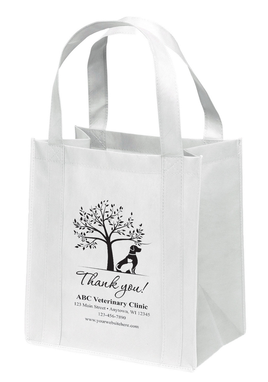 NWL45 - Personalized Non-Woven Tote Bag - 13W x 10 x 15H (Multiple Bag & Imprint Colors Available)