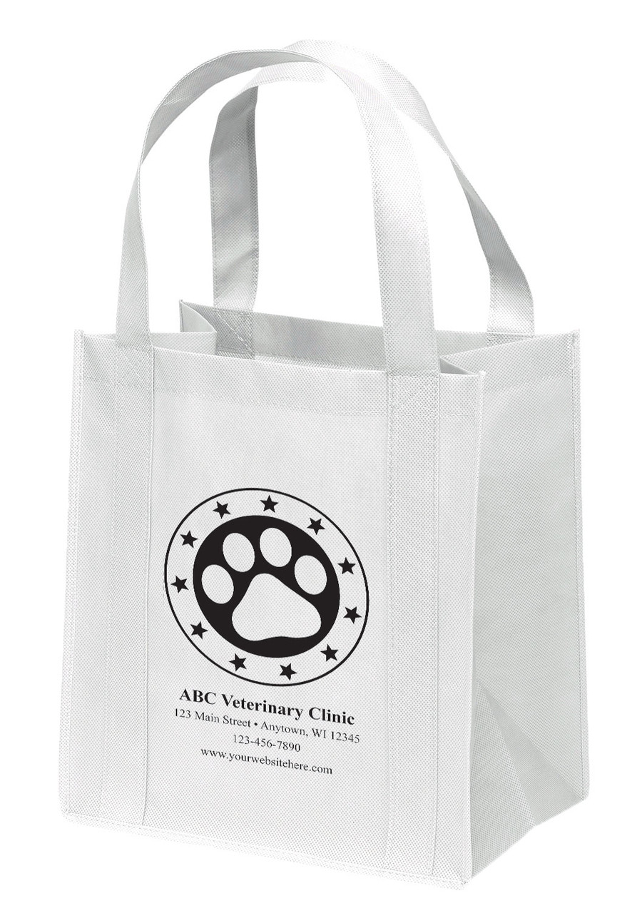 NWS47 - Personalized Non-Woven Tote Bag - 12W x 8 x 13H (Multiple Bag & Imprint Colors Available)