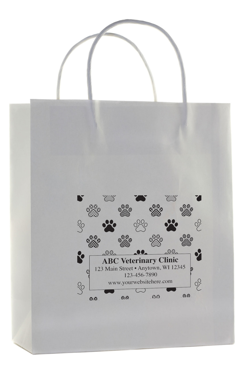 HSD46 - Personalized Handled Paper Bag (Multiple Imprint Colors Available)
