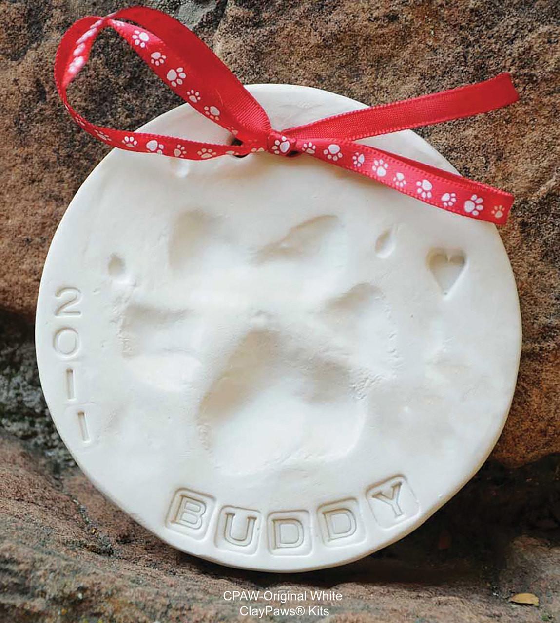 Claypaws Paw Print Kit Terra Cotta Clay