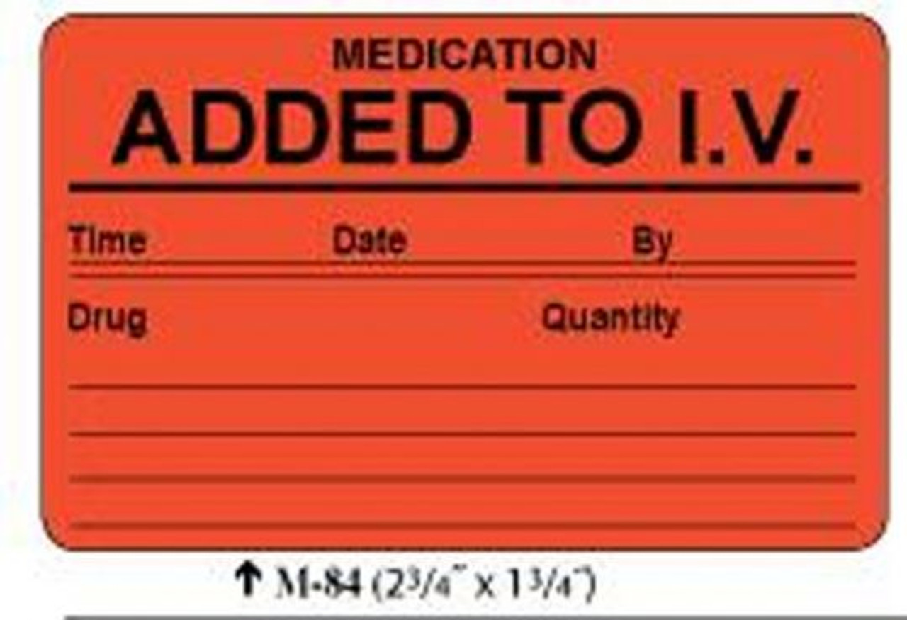 """M-84:  """"Added To IV"""" Lab Results Labels"""
