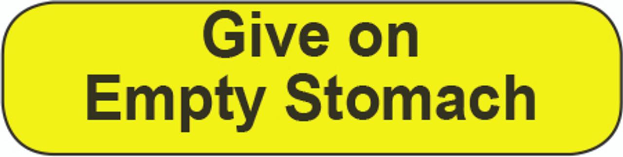 C-30 Medication Instruction Sticker - Give on empty stomach