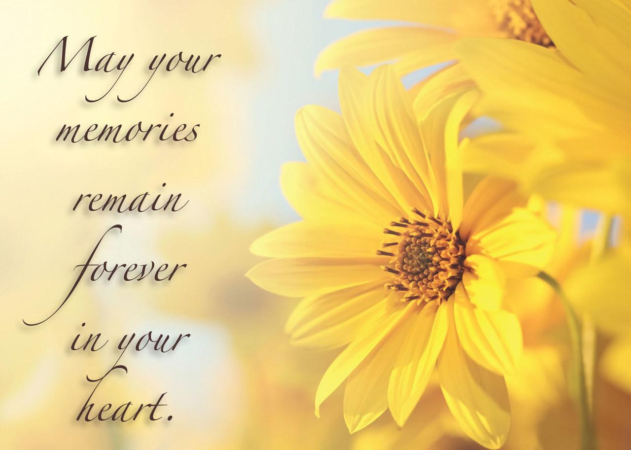 symflower6 sympathy card  positive impressions