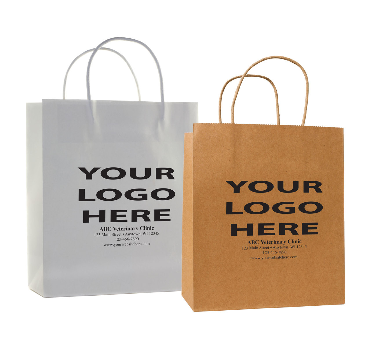 HSDP - Personalized Handled Paper Bag (Multiple Imprint Colors Available) Call us at 877-761-6933 for more info!