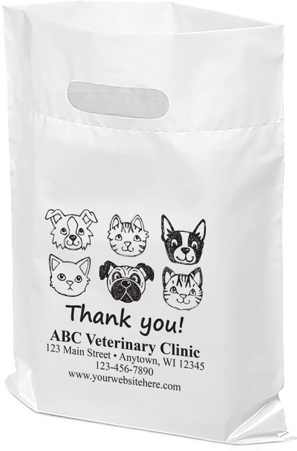 """PTS15- Personalized Plastic Tote Bag - 9"""" x 12"""""""