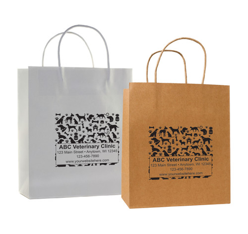 HSD19 - Personalized Handled Paper Bag (Multiple Imprint Colors Available)