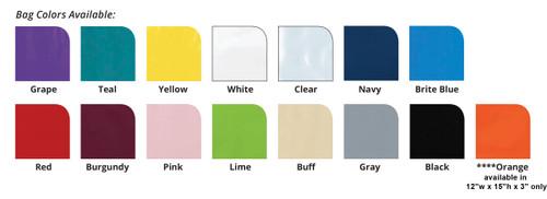 "PTL17 - Personalized Plastic Tote Bag - 12"" x 15"" (Multiple Bag &  Imprint Colors Available)"