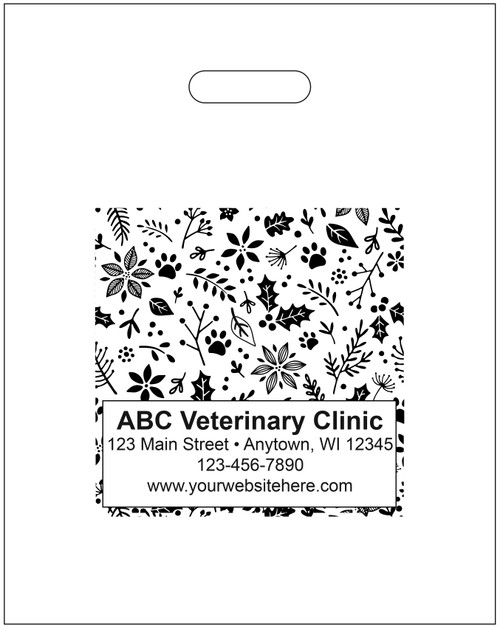 """PTL30 - Personalized Plastic Tote Bag - 12"""" x 15"""""""